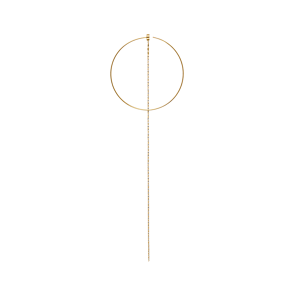 Cerchio Yellow 5cm Chain Earring