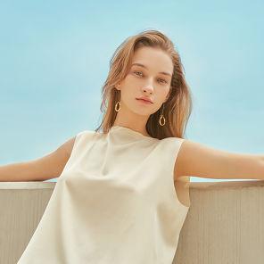 ALLETS x LVIR Satin Sleeveless Shirt Vanilla Custard