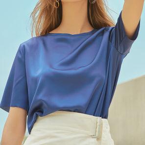 ALLETS x LVIR Satin T-Shirt Royal Blue