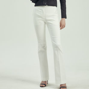 SIGNATURE BELL BOTTOM PANTS WHITE