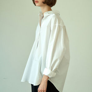 라르고 loose fit shirt (white)